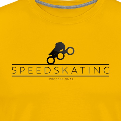Speedskating Professional Black - Männer Premium T-Shirt