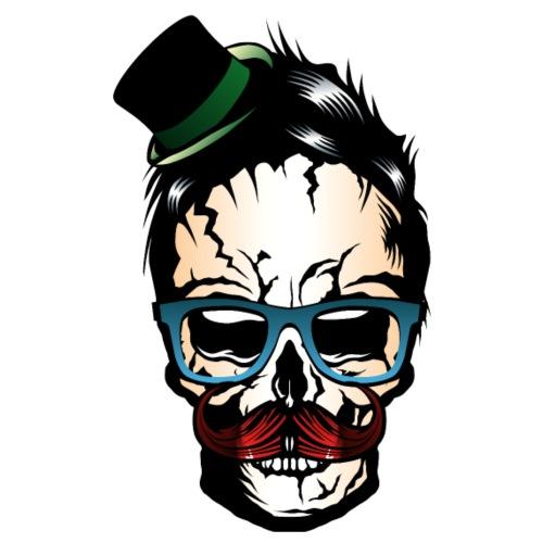 tete de mort moustache chapeau hipster crane tatoo - T-shirt Premium Homme
