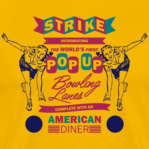 Pop Up Bowling - Mannen Premium T-shirt