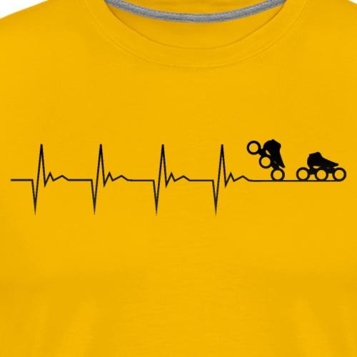 Speedskater Puls - Männer Premium T-Shirt