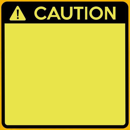 Caution Sign (2 colour) - Men's Premium T-Shirt