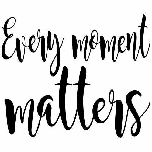every moment matters - Mannen Premium T-shirt
