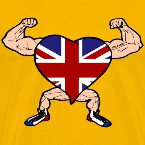 Milaino UK heart flag - Men's Premium T-Shirt
