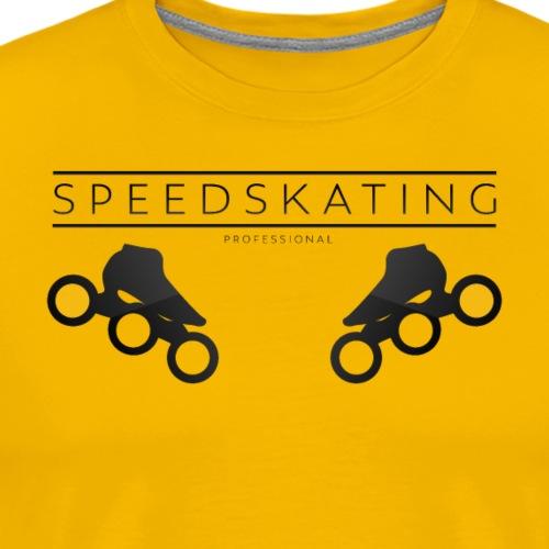 Speedskating Professional Black - Männer Premium T-Shirt