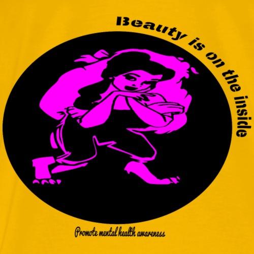 Beauty is on the inside! (Black) - Men's Premium T-Shirt