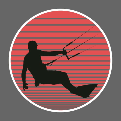 Kitesurfen der Sonne entgegen - Männer Premium T-Shirt