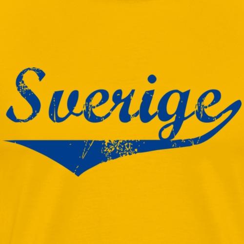 Sverige distressed GulBlå - Premium-T-shirt herr