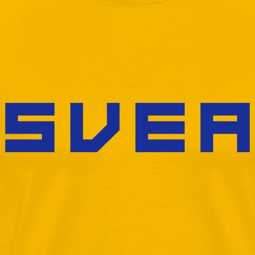 SVEA GulBlå - Premium-T-shirt herr