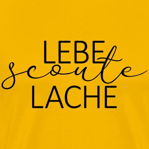 Lebe Scoute Lache Lettering - Farbe frei wählbar - Männer Premium T-Shirt