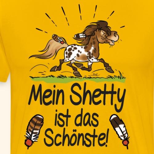 Mein Shetty das Schönste (Text schwartz) - T-shirt Premium Homme