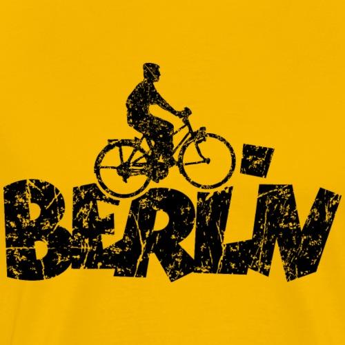 Berlin Fahrrad (Vintage/Schwarz) Fahrradfahrer - Männer Premium T-Shirt