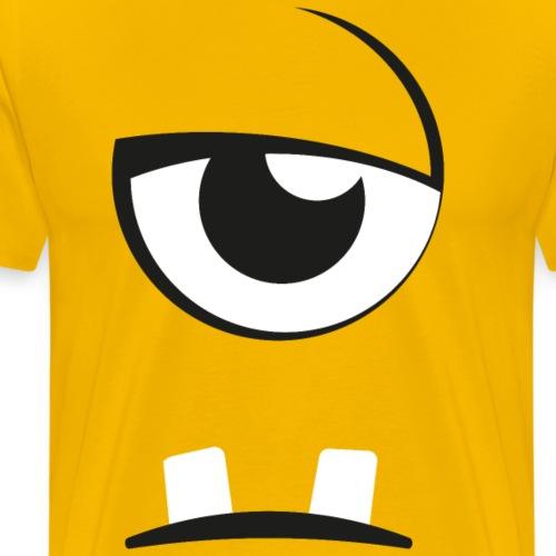 Lustiges Monsterauge mit gleichgültigem Gesicht - Männer Premium T-Shirt