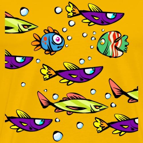 Schwimmende Fische Mix Design - Männer Premium T-Shirt