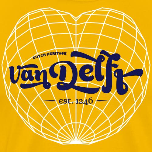 Abstract Hart VanDelft - Mannen Premium T-shirt