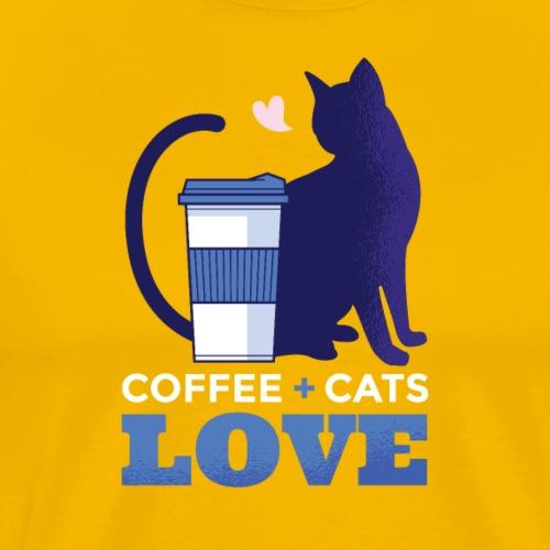 Coffee + Cats = Love, Kaffee + Katzen = Liebe