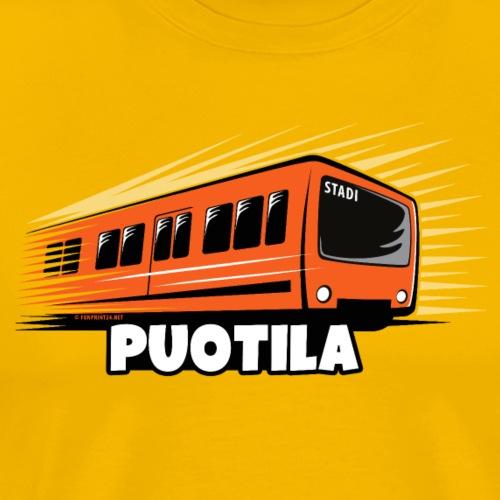 03-PUOTILAN METRO - Tekstiilit ja lahjat - Miesten premium t-paita