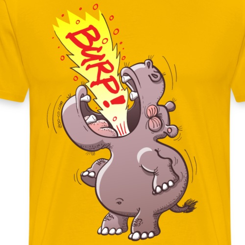 Hippopotamus Burping Loudly - Men's Premium T-Shirt