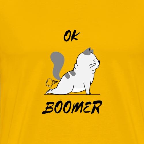 OK BOOMER mit süßer Katze. - Männer Premium T-Shirt