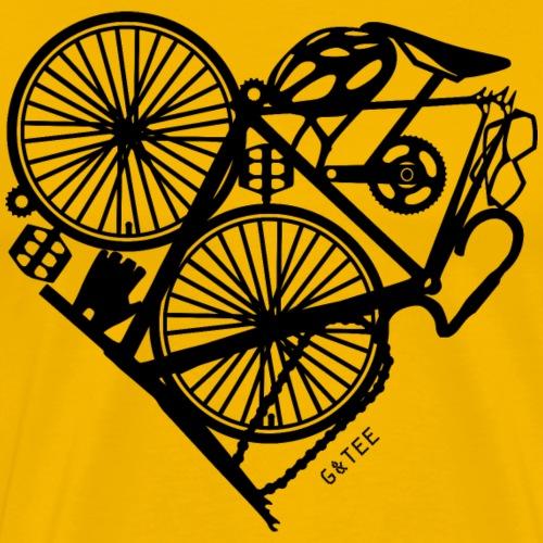 Bike Heart Bag White - Men's Premium T-Shirt