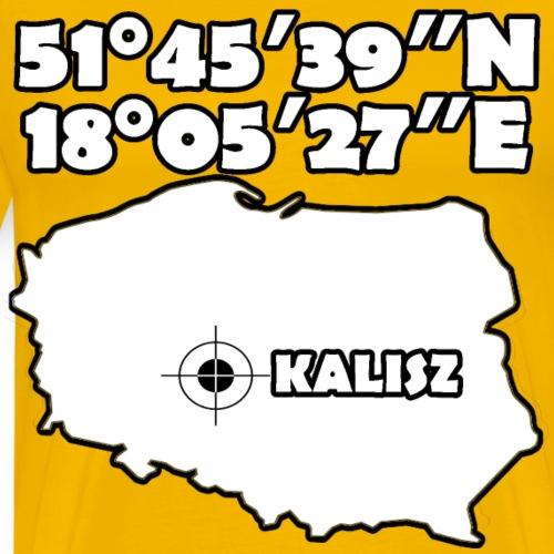 Współrzędne geograficzne Kalisza - Koszulka męska Premium