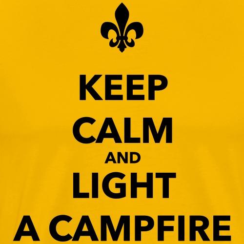 Keep calm and light a campfire - Farbe wählbar - Männer Premium T-Shirt