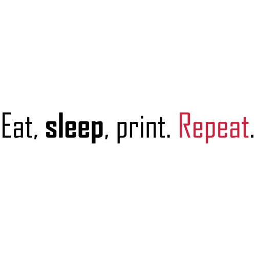 Eat, sleep, print. Repeat. - Men's Premium T-Shirt