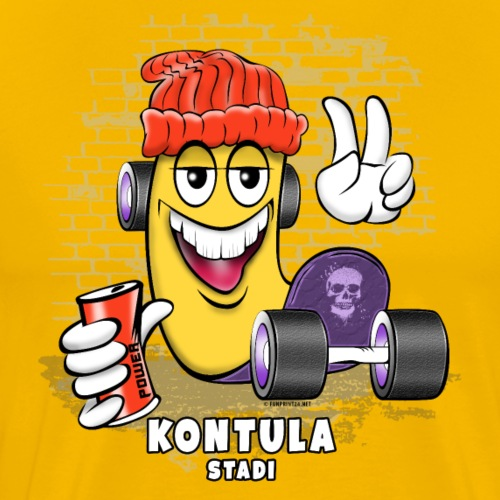 KONTULA SKATE - STADI - Skater Helsinki - Miesten premium t-paita