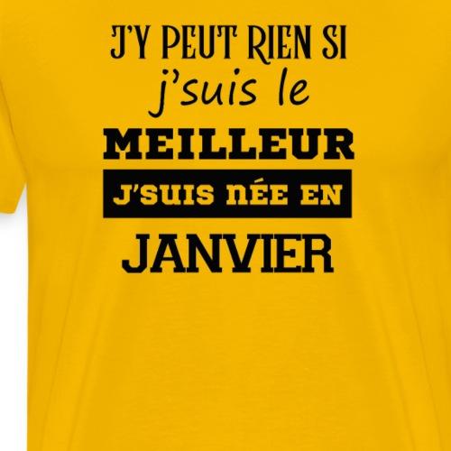 Je suis le meilleur - JANVIER - T-shirt Premium Homme