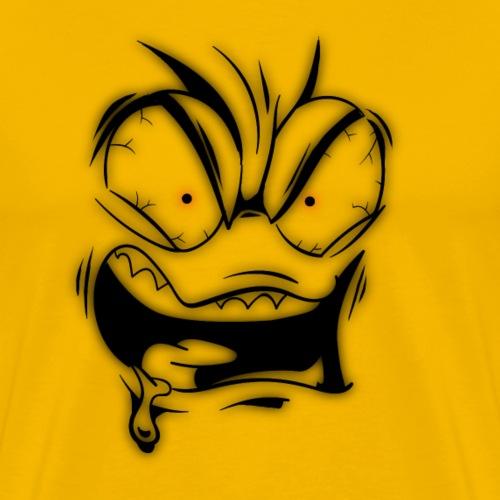 crazy face - Maglietta Premium da uomo