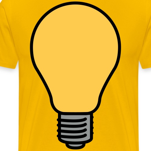 Lightbulb - Men's Premium T-Shirt