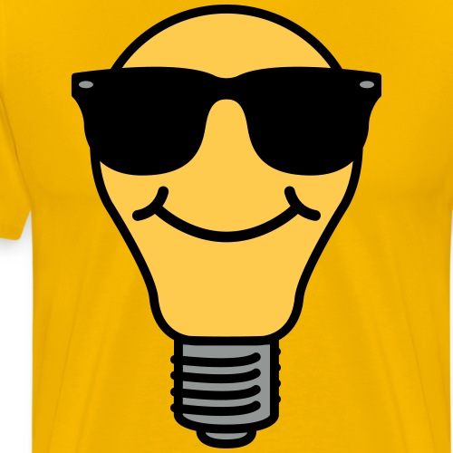 Lightbulb with sunglasses - Men's Premium T-Shirt