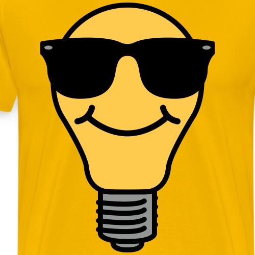 Lightbulb with sunglasses - Men's Premium T-Shirt