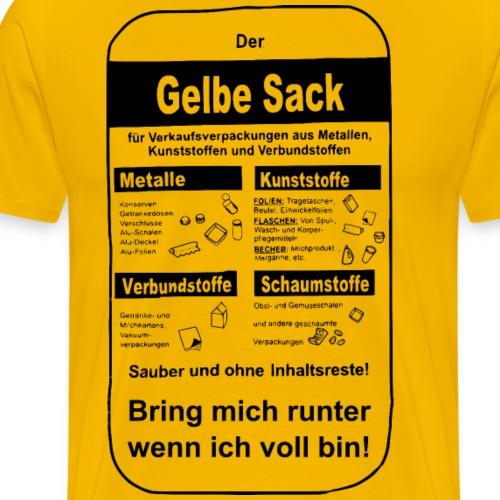Der gelbe Sack - Männer Premium T-Shirt