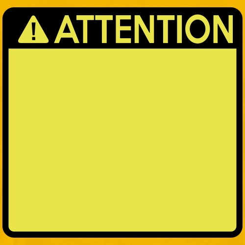 Attention Sign (2 colour) - Men's Premium T-Shirt