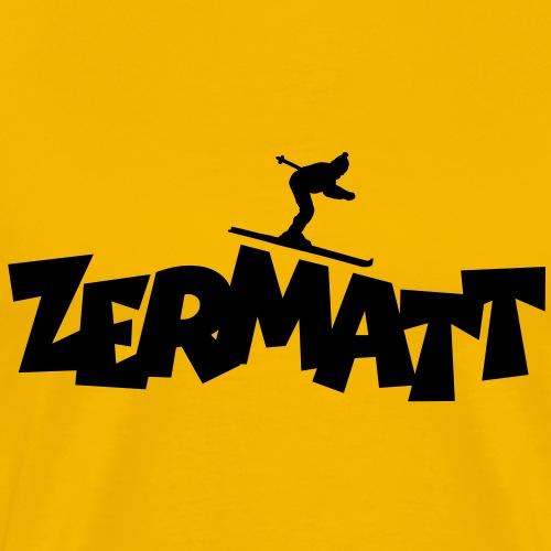 Zermatt Ski Skifahrer - Männer Premium T-Shirt
