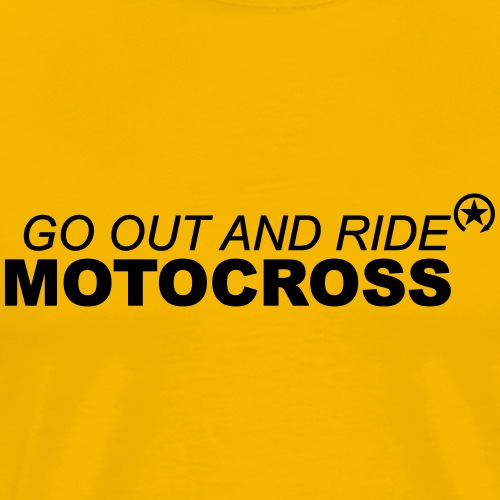jeździć motocross bk - Koszulka męska Premium