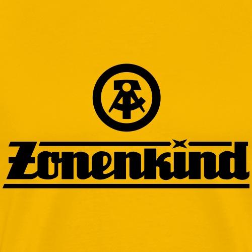 Zonenkind mit DDR Logo - Männer Premium T-Shirt