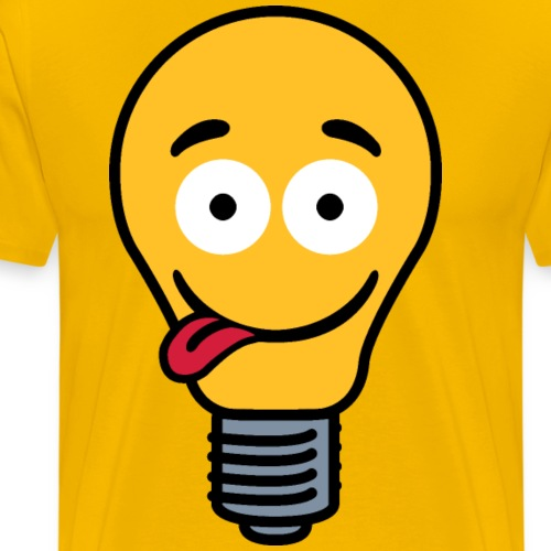 Lightbulb with tongue - Men's Premium T-Shirt