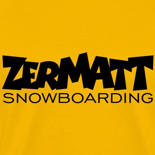 Zermatt Snowboarding Snowboard - Männer Premium T-Shirt