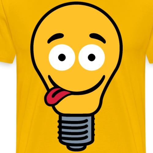 Lightbulb with tongue - Men's Premium T-Shirt