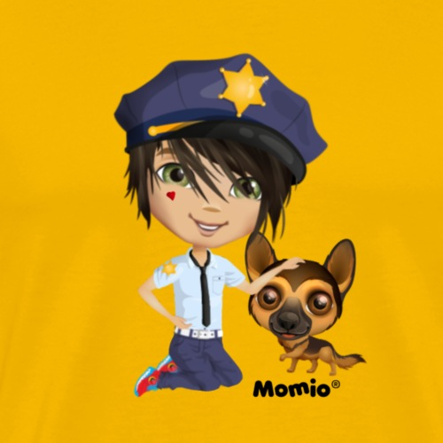 Jack and dog - av Momio Designer Cat9999 - Premium T-skjorte for menn