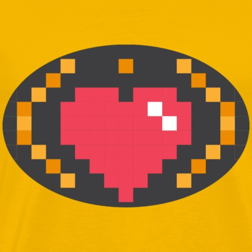 Digital_Heart_Isle - Men's Premium T-Shirt