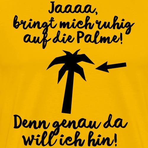Stress Ärger Büro Urlaub Palme - Männer Premium T-Shirt