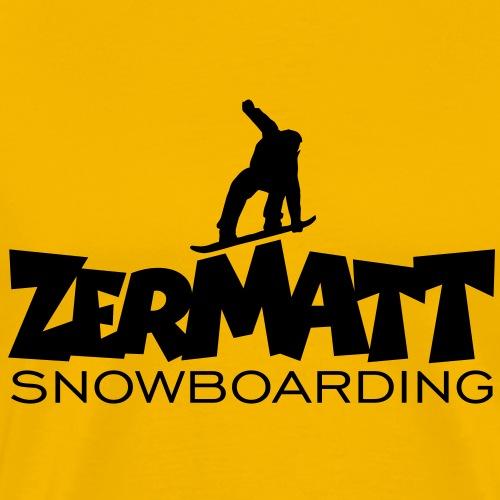 Zermatt Snowboarding Snowboard Snowboarder - Männer Premium T-Shirt
