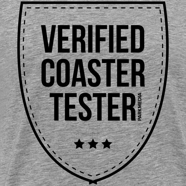 Badge de testeur de montagnes russes vérifié