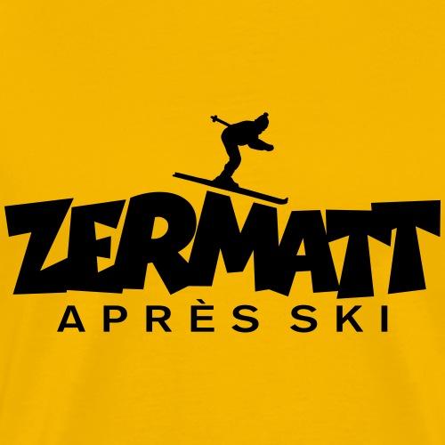 Zermatt Apres Ski Skifahrer - Männer Premium T-Shirt