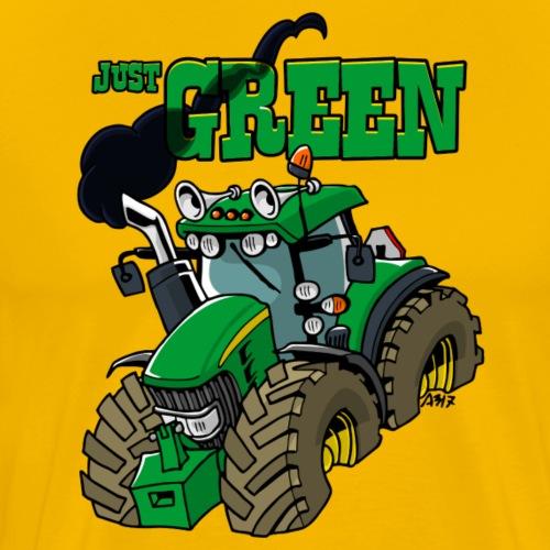 just GREEN - Mannen Premium T-shirt