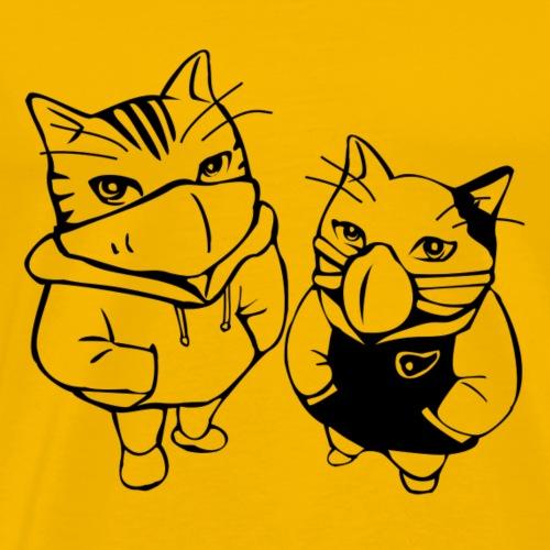 coole Katzen - Männer Premium T-Shirt