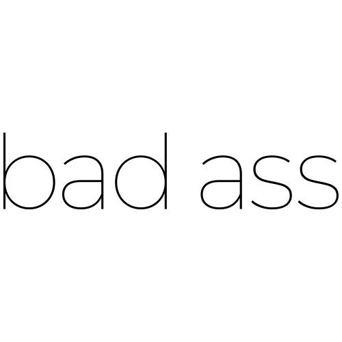 bad ass - stoer design - Mannen Premium T-shirt