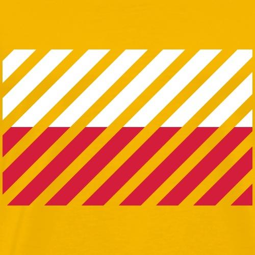 Striped Poland Flag - Mannen Premium T-shirt
